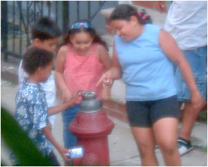 kids on my street, trying to crack the hydrant open