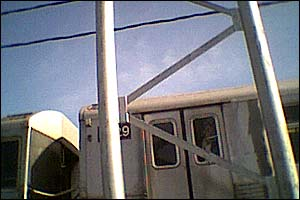 jmz from a car on the billburg bridge